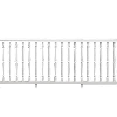 8 ft. x 36 in. White Vinyl Williamsburg Rail Kit with Colonial Spindles