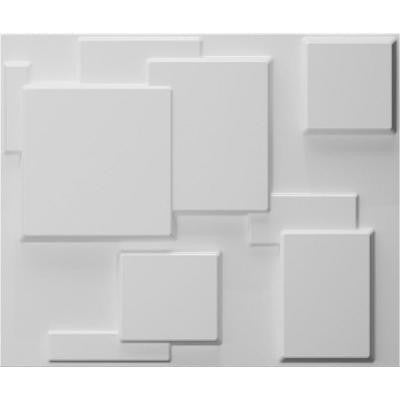 32.4 in. x 21.6 in. x 1 in. Off-White Plant Fiber Glue-On Wainscot Wall Panel (6-Pack)