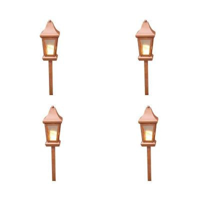1-Light 40-Watt Low Voltage Raw Copper Pathlight (4-Pack)