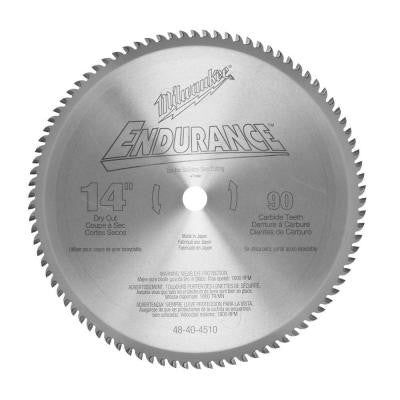 14 in. x 90 Tooth Dry Cut Carbide Tipped Circular Saw Blade
