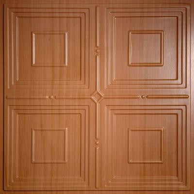 Jackson Faux Wood-Caramel 2 ft. x 2 ft. Lay-in or Glue-up Ceiling Panel (Case of 6)