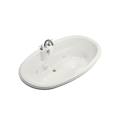 ProFlex 6 ft. Whirlpool Tub with Center Drain in White