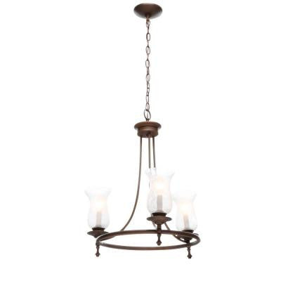 Grace 3-Light Rubbed Bronze Chandelier
