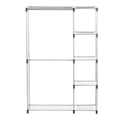 19.50 in. x 45.38 in. x 68.00 in. Double Rod Closet Shelves