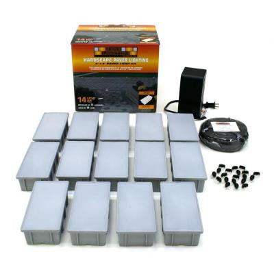 14-Light Outdoor Paver Light Kit