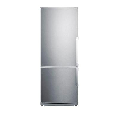 27 in. W 13.81 cu. ft. Bottom Freezer Refrigerator in Stainless Steel, Counter Depth