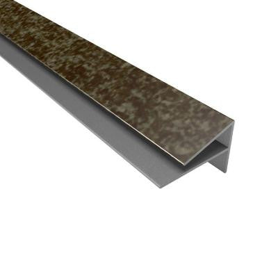 4 ft. Large Profile Outside Corner Trim in Smoked Pewter