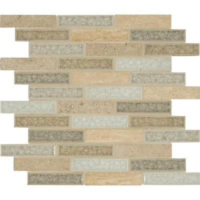 Crystal Vista 12 in. x 12 in. x 8 mm Glass Stone Mesh-Mounted Mosaic Wall Tile