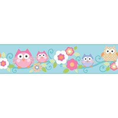 9 in. Cool Kids Owl Branch Border
