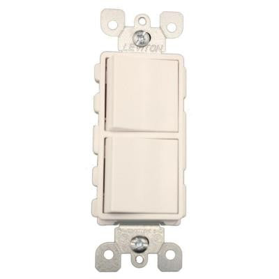 15 Amp 120-Volt 3-Way Decora Combination Rocker Switch - White