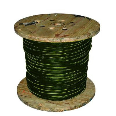 500 ft. 1/0-1/0-1/0 Stranded URD Bergen Aluminum Cable - Black