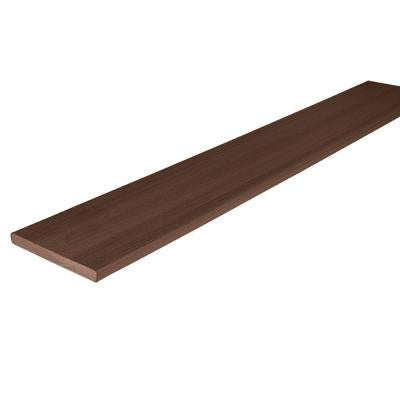 Horizon 3/4 in. x 7-1/4 in. x 12 ft. Tudor Brown Capped Riser Composite Decking Board (10-Pack)