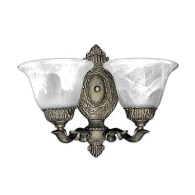 2-Light Pewter Gold Sconce