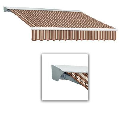 18 ft. LX-Destin with Hood Manual Retractable Acrylic Awning (120 in. Projection) in Brown/Terra