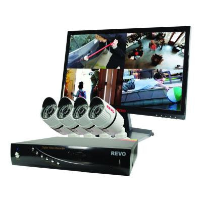 T-HD 4-Channel 1TB DVR Surveillance System with 4 T-HD 1080p Bullet Cameras