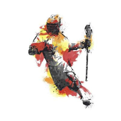 24 in. x 33 in. Men's Lacrosse Champion Peel and Stick Giant Wall Decal