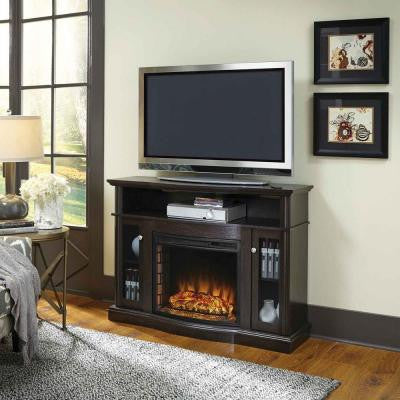 Elliott 47 in. Media Electric Fireplace in Merlot