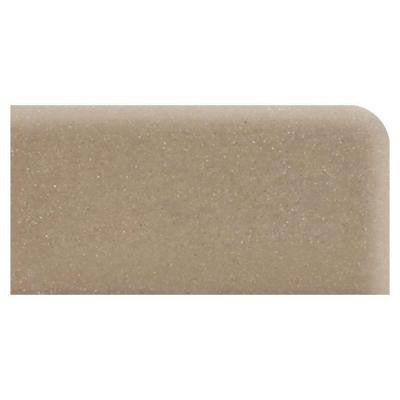 Rittenhouse Square Elemental Tan 3 in. x 6 in. Ceramic Surface Bullnose Right Corner Tile