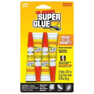 .07 oz. Glue, (4) .07 oz. Tubes per card, Case pack of 12 cards