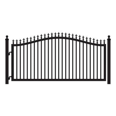 St. Augustine 12 ft. x 5 ft. Powder Coated Steel Single Driveway Fence Gate