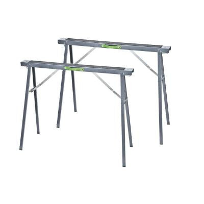 Metal Foldable Saw Horse Set (2-Piece)