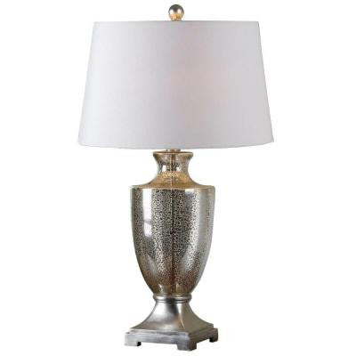 31 in. Mercury Glass Table Lamp
