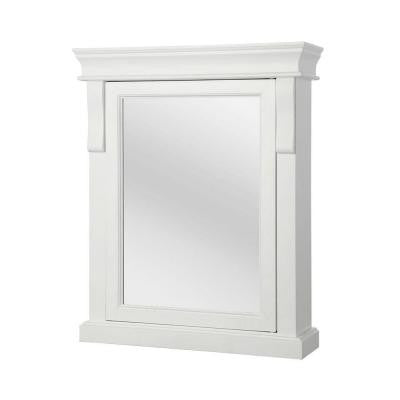 Naples 25 in. W x 31 in. H Surface-Mount Medicine Cabinet in White
