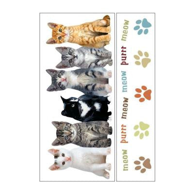 Removable and Repositionable Ultimate Wall Sticker Mini Mural Appliques Kittens