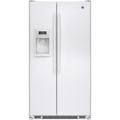 24.7 cu. ft. Side by Side Refrigerator in White