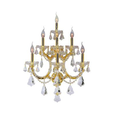 Maria Theresa Collection 7-Light Crystal and Gold Sconce