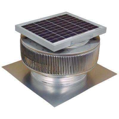 740 CFM Mill Finish 10 Watt Solar Powered 12 in. Dia. Roof Mounted Attic Exhaust Fan