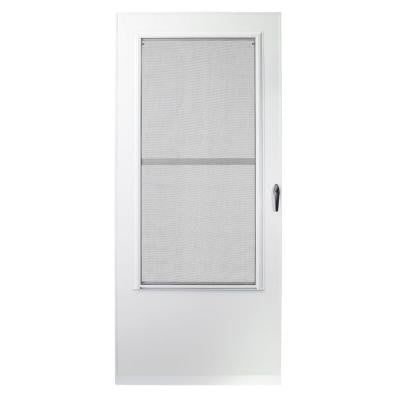 36 in. x 80 in. 200 Series White Triple-Track Storm Door