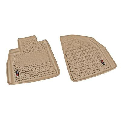 Floor Liner Front Pair Tan 2007-2014 GM Acadia/Traverse/Enclave