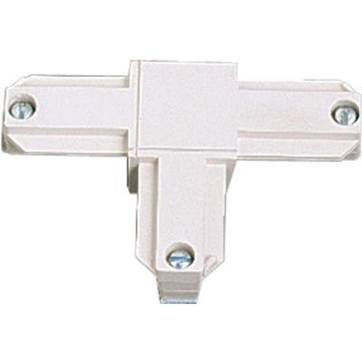 White Track Accessory, T Connector - Inside Left Polarity
