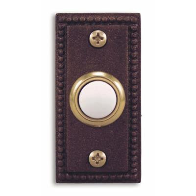 Wired Antique Copper Finish Rectangular Push Button