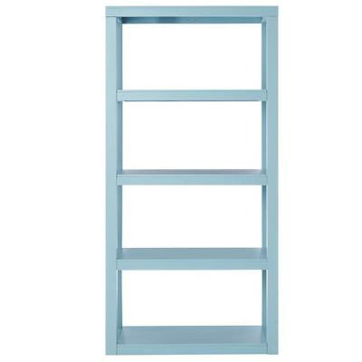 Parsons 62 in. H x 30 in. W Bookcase in Blue