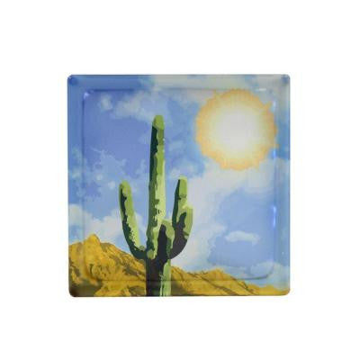 8 in. x 8 in. x 4 in. Cactus Art Glass Blocks