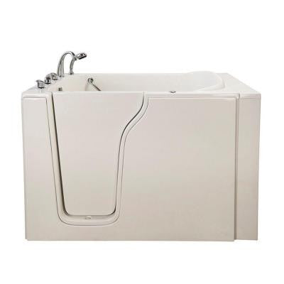 Bariatric 33 4.58 ft. x 33 in. Walk-In Air Bath Tub in White with Left Drain/Door