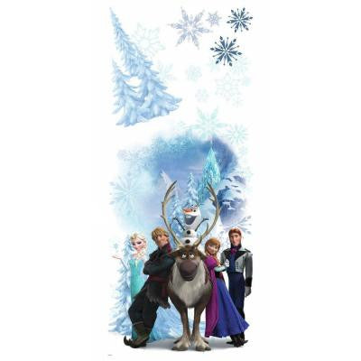 2.5 in. x 21 in. Disney Frozen Character Winter Burst Peel and Stick Giant Wall Decal (7-Piece)