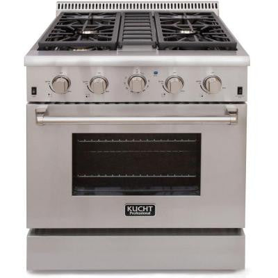 Pro-Style 30 in. 4.2 cu. ft. Propane Gas Range with Sealed Burners and Convection Oven in Stainless Steel