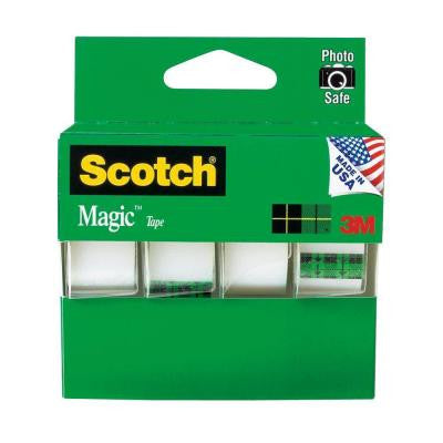 Scotch 3/4 in. x 8-1/3 yds. Magic Tapes (4-Pack)