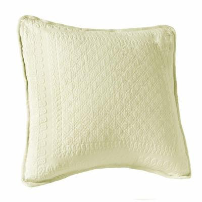 King Charles 18 in. Ivory Square Decorative Pillow