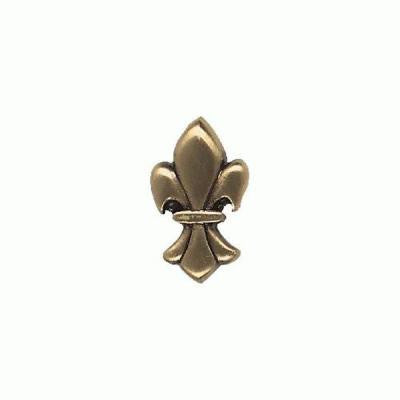 Massalia Bullion 1 in. x 1 in. Metal Fleur de Lis Button Wall Tile