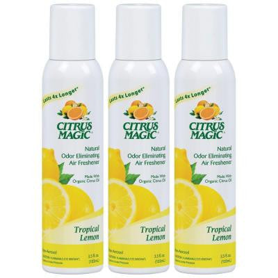 3.5 oz. Tropical Lemon All Natural Odor Eliminating Spray Air Freshener (3-Pack)