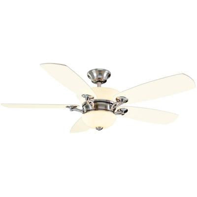 Chardonnay 52 in. Indoor Brushed Nickel Ceiling Fan