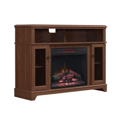 Ravensdale 48 in. Media Console Electric Fireplace in Faded Cherry