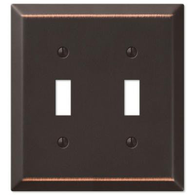 Century Steel 2 Toggle Wall Plate - Aged Bronze