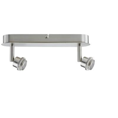 Double Spotlight Brushed Nickel Track Lighting
