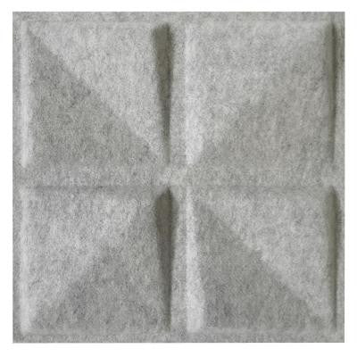 FeltForms 24 in. W x 24 in. L x 2 in. H White Acoustic Insulation Quad Panels (4-Pack)