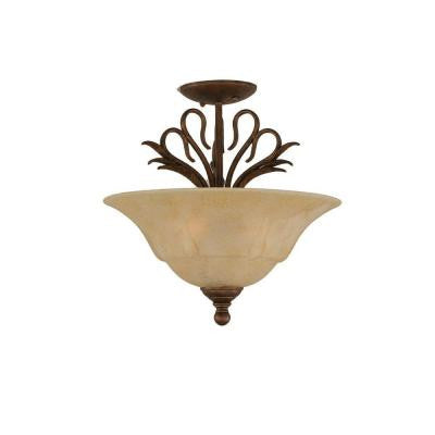 Concord 3 Light Ceiling Bronze Incandescent Semi-Flush Mount